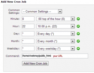Cron Scheduler Form