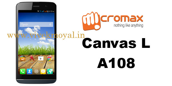 Micromax Canvas L A108 features and specifications