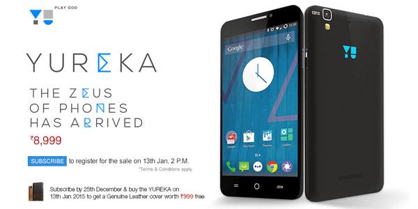 Micromax Yureka 2GB RAM, 13MP, HD, Quad Core at Rs 8,999 In India
