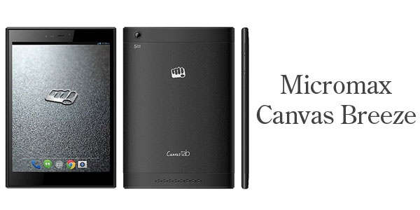 Micromax Canvas Breeze Tab P660 With 3G and Voice Calling launched