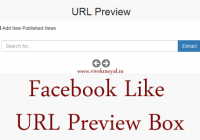 Facebook Like Preview Box