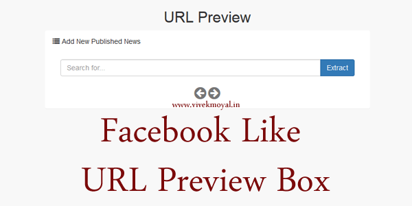 Facebook Like Preview Box in PHP | URL Preview Box