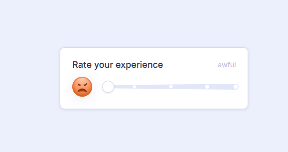 Animated Emoji Rating Slider